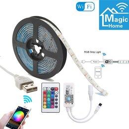 Светодиодные ленты - Лента светодиодная RGB SMD5050  (USB-WI-FI) 1м …, 0
