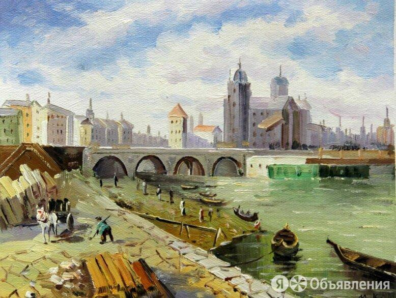 """Картина маслом Картина """"В Голландии"""", 25x20 по цене 5000₽ - Картины, постеры, гобелены, панно, фото 0"""