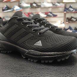 Кроссовки и кеды - Кроссовки Adidas Marathon полностью черные (р. 36,38,39,40), 0