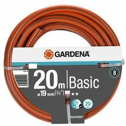Шланги и комплекты для полива - Шланг поливочный Gardena Basic, 19 мм, 20 м, 0
