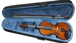 Смычковые инструменты - FLIGHT FV-34 Скрипка 3/4 в комплекте смычок,…, 0