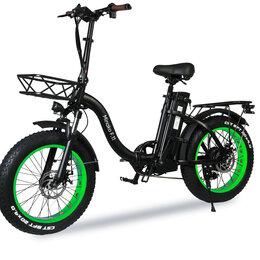 Мототехника и электровелосипеды - Электровелосипед Minako F.11 черно-зеленый, 0