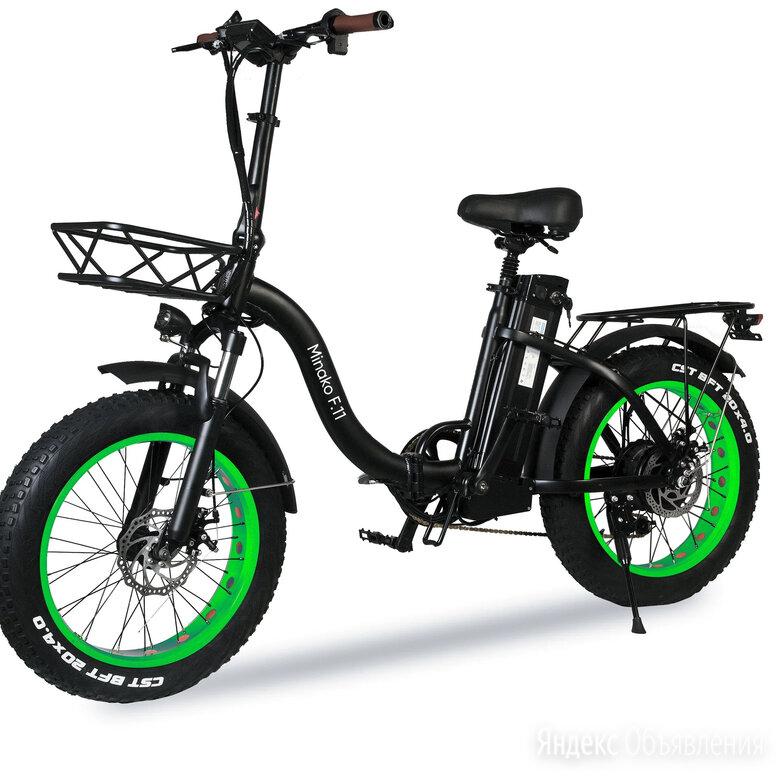 Электровелосипед Minako F.11 черно-зеленый по цене 56900₽ - Мото- и электротранспорт, фото 0