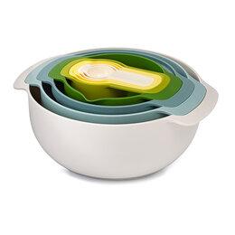 """Блюда, салатники и соусники - Миски разноцветные 9 штук """"Опал"""" Nest 9 Plus Sky, 0"""