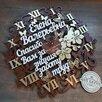 Часы деревянные со словами по цене 2750₽ - Часы настенные, фото 0