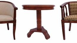 Столы и столики - Круглый чайный (кофейный) столик из дерева, 0