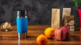 Термосы и термокружки - Голубая термокружка Travel Mug Emsa 0,36 л. Новая, 0