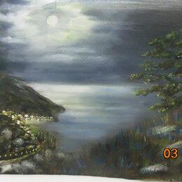 "Рисование - ""Ночь в бухте"", 0"