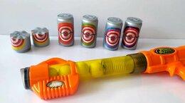 Игрушечное оружие и бластеры - Бластер игрушечный, 5 шаров + 5 мишеней, 0
