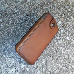 Чехлы - Чехол кобурный для телефона ручной работы кожаный , 0