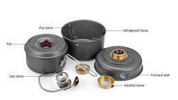 Туристическая посуда - BULin  набор посуды с горелкой, 0