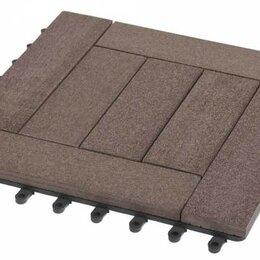 Паркет - Садовый паркет Комфорт 6 Grinder / Гриндер ДПК, 300x300 мм, цвет венге, упаковка, 0