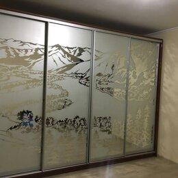 Шкафы, стенки, гарнитуры - Двери-купе с пескоструйным рисунком, 0