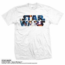 Футболки и майки - Футболка Star Wars - Space Montage Logo (XXL) США, 0
