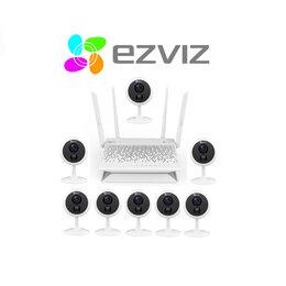 Готовые комплекты - Комплект на 8камер ezviz С1С (1080p) +Vault Plus, 0