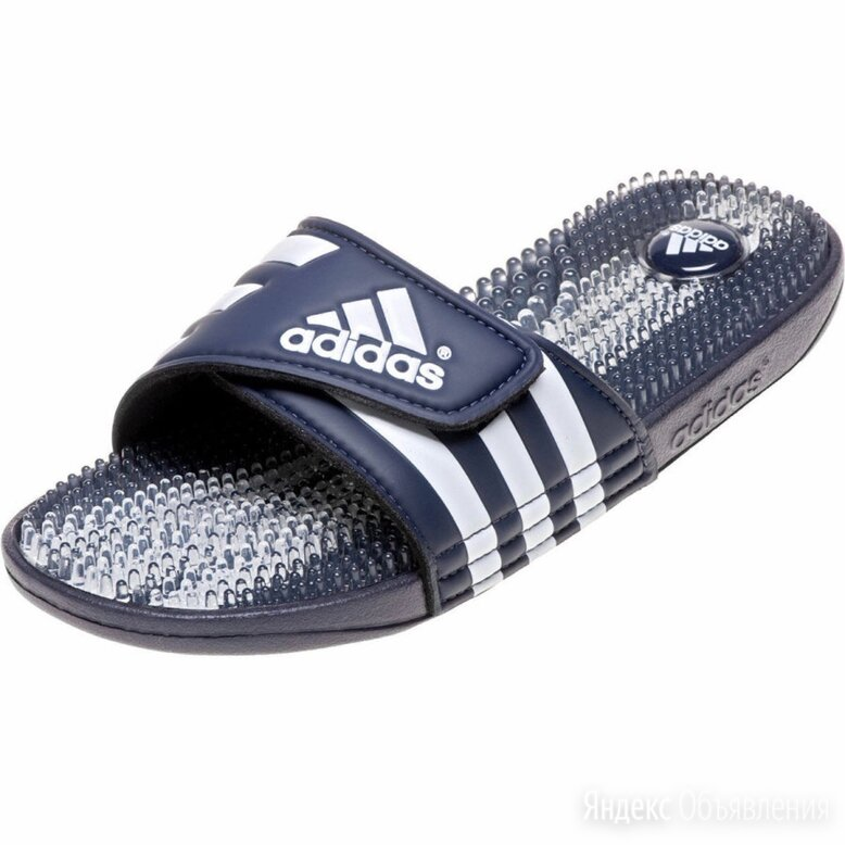 Шлёпанцы adidas массажные по цене 2000₽ - Шлепанцы, фото 0