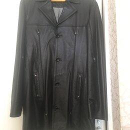 Куртки - Куртка-Френч-Плащ (весна-осень, мужская, кожаная), 0