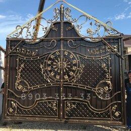Заборы, ворота и элементы - Кованные ворота калитки двери ограда перила, 0