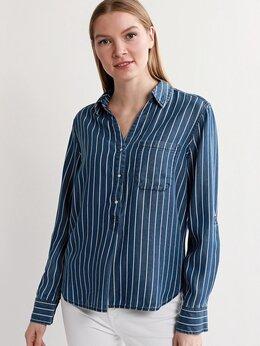 Блузки и кофточки - Блузка туника S.Oliver Германия на клепках синяя…, 0