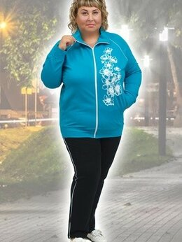 Футболки и топы - Женский спортивный костюм 542 большие размеры Ната, 0