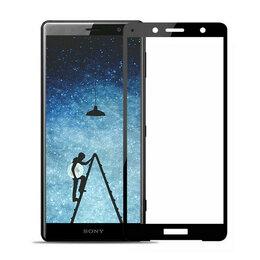 Защитные пленки и стекла - Защитное стекло для Sony Xperia XZ2 (2.5D, черное), 0