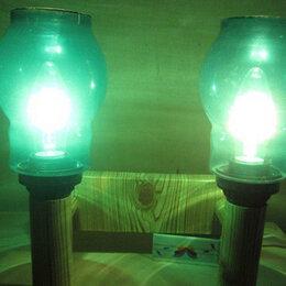 Настенно-потолочные светильники - Настенный светильник с зеленой подсветкой 1, 0