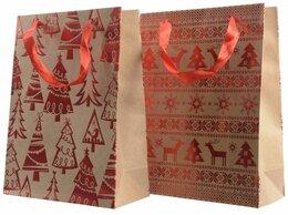 Подарочная упаковка - Подарочный пакет НОВОГОДНИЙ ОРНАМЕНТ, 10x26x32…, 0