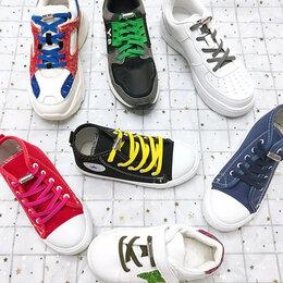 Стельки и шнурки - Эластичные плоские шнурки на застежках, 0