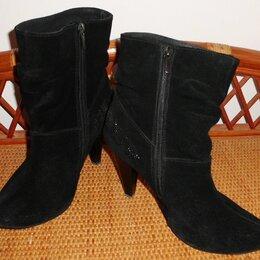 Ботинки - Ботинки ботильоны на меху натуральная замша Venison р.39 ст.25.5, 0