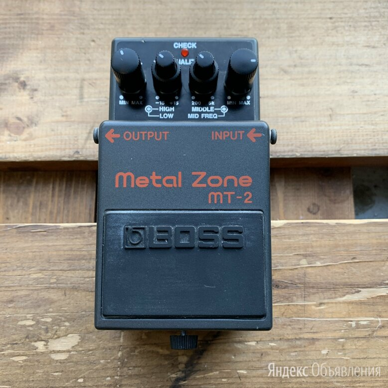 Педаль эффектов Boss Metal Zone MT-2 (винтаж) по цене 6000₽ - Процессоры и педали эффектов, фото 0
