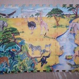 Пазлы - Детский игровой коврик-пазл. Размер: 92см*62см*1,4см, 0