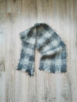 Шарфы - Мужской серый шерстяной шарф/палантин купить шарф, 0