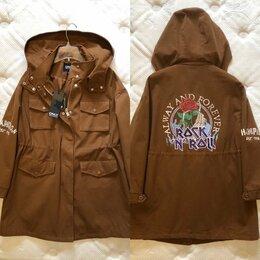 Куртки - Only Oversize с принтом Rock n roll на 50 размер…, 0