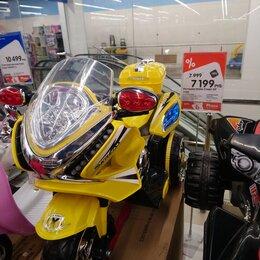 Машинки и техника - Электрический детский мотоцикл, 0