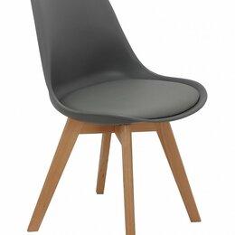 Стулья, табуретки - Стул с деревянными ножками серый Eames Bon, 0