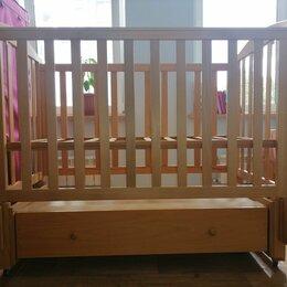 Кроватки - Кроватка из бука с продольным качением, 0