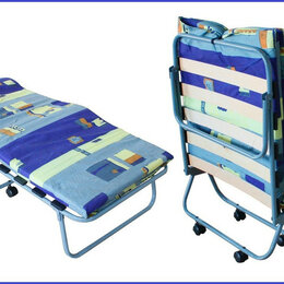 Кровати - Раскладушка ортопедическая ктр-1лп ватный матрас  , 0
