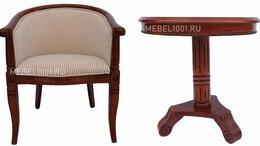 Стулья, табуретки - Деревянное чайное кресло А-10 с подлокотниками и…, 0