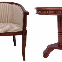 Стулья, табуретки - Деревянное чайное кресло А-10 с подлокотниками и мягкой спинкой. Чайная группа, 0