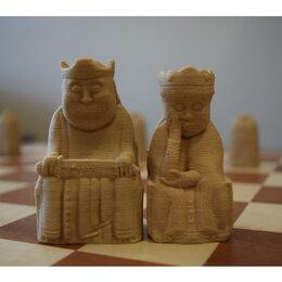Настольные игры - Шахматы острова Льюис (3Д-печать, пластик), 0