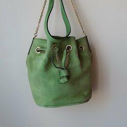 Сумки - Замшевая сумка Gianni Chiarini, зеленая, 0