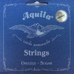 Струны - Aquila Sugar 153U струны для укулеле концерт (Low G-C-E-A), 4 струна в оплетке, 0