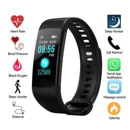 Умные часы и браслеты - Фитнес-браслет Y5 с цветным дисплеем, 0