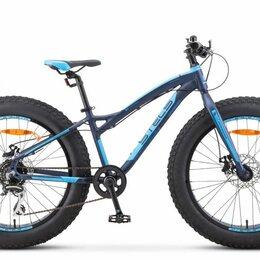 """Велосипеды - Подростковый фэт-байк STELS Aggressor MD 24 V010 темно-синий 13.5"""" рама, 0"""