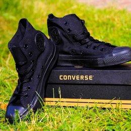 Кроссовки и кеды - Кеды высокие черные converse 38 размера, 0