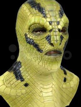 Карнавальные и театральные костюмы - Реалистичная маска дьявола Василиск из латекса, 0
