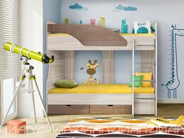Кровати - Двухъярусная кровать Бриз-5 Квадрат (Шоколад), 0