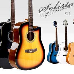 Акустические и классические гитары - Solista SO-4111 BK акустическая гитара, 0