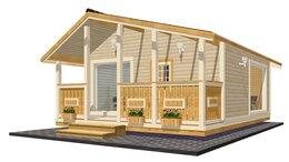 Готовые строения - Дачный домик TEREMDOM №34 с панорамными окнами, 0