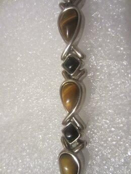 Браслеты - Винтажный браслет с натуральными камнями, 0